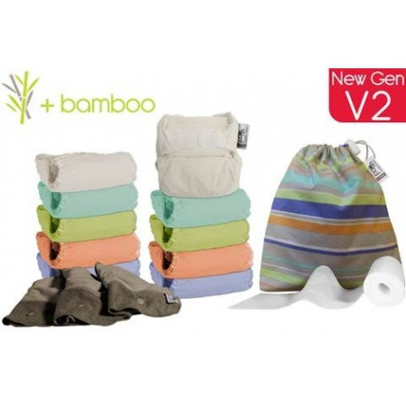 Pack 10 Pop in Bambú Pastel con accesorios