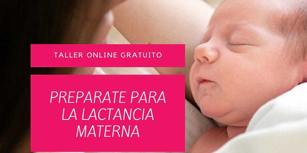 TALLER ONLINE GRATUITO 'PREPÁRATE PARA LA LACTANCIA MATERNA'