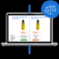 Comparateur d'offres, products comparator, biedvergelijker