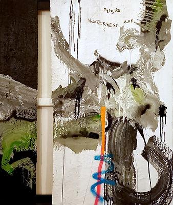 fuchur uwe gallaun, acrylic, painting, artist