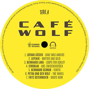 cafe wolf sampler, uwe gallaun, layout, photos, artwork, artist