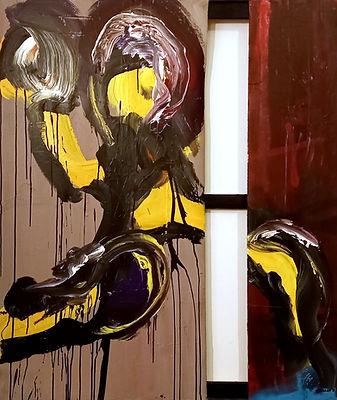 hand uwe gallaun, acrylic, painting, artist
