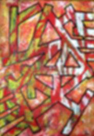 uwe gallaun hell acrylic on canvas