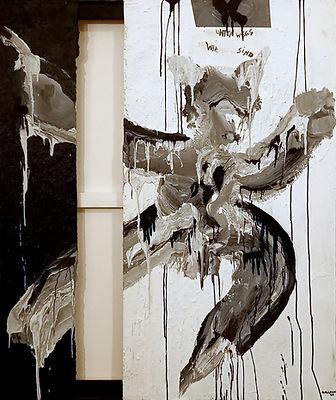 foxy uwe gallaun, acrylic, painting, artist