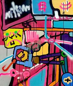 moggscreen, uwe gallaun, acrylic, painting, artist
