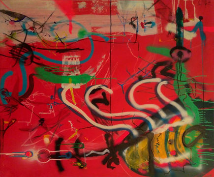 uwe gallaun, acrylic, painting, artist, salmutter