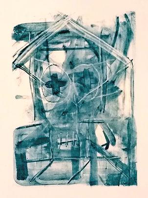headache, uwe gallaun, lithography, painting, artist