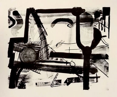 industrial, uwe gallaun, lithography, painting, artist