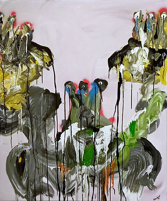 3kings foxy uwe gallaun, acrylic, painting, artist