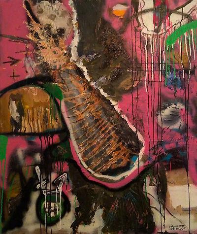 uwe gallaun, acrylic, painting, artist schauer