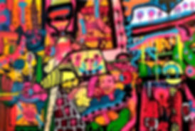 kindajob uwe gallaun, acrylic, painting, artist