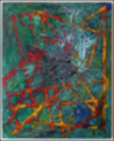 uwe gallaun cthulhu acrylcic on canvas