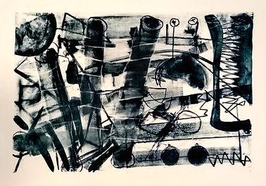 tubes, uwe gallaun, lithography, painting, artist