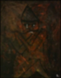 uwe gallaun grumpy acrylic on canvas
