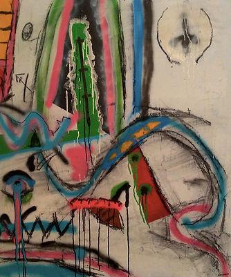 uwe gallaun, acrylic, painting, artist, frustiges taschenbuch