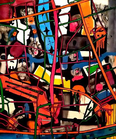 uwe gallaun, acrylic, painting, artist