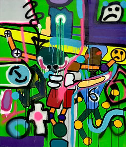cruciVR, uwe gallaun, acrylic, painting, artist