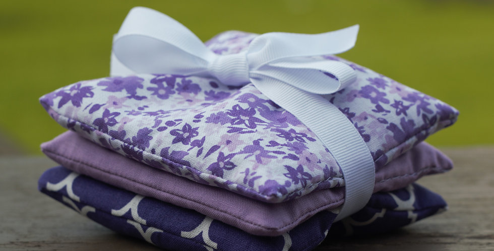 Hand-Crafted Lavender Sachets, 3 count