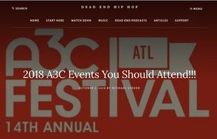 DeadEndHipHop.com features press release about A3C Official Showcase