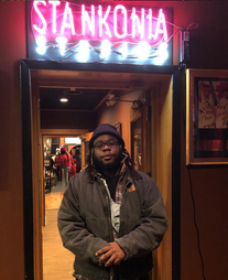Neo-Soul artist, Wasionkey, attends listening party at Stankonia studios