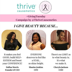 Power In Pink partners with Thrive Causemetics for #GivingTuesday