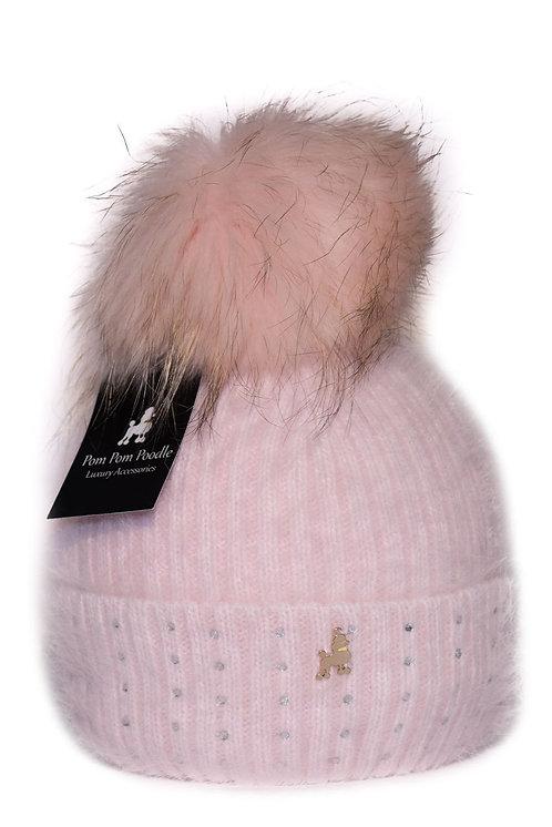 'Jessie' - Light Pink Pompom Hat