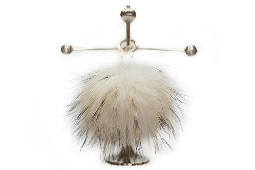 White - Luxury Raccoon Pompom Keyring/Bag Charm