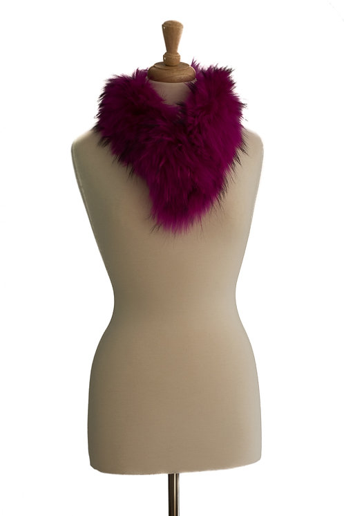 Shocking Pink Raccoon Fur Collar