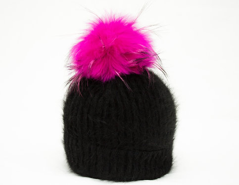 Fuschia Pink - Individual Detachable Pompom