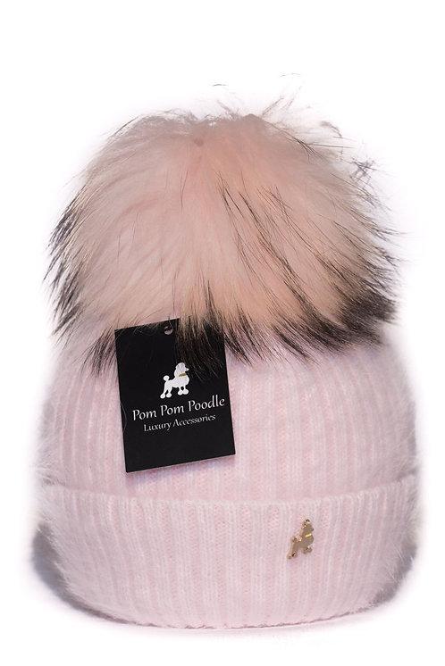 'Jenna' - Light Pink Pompom Hat