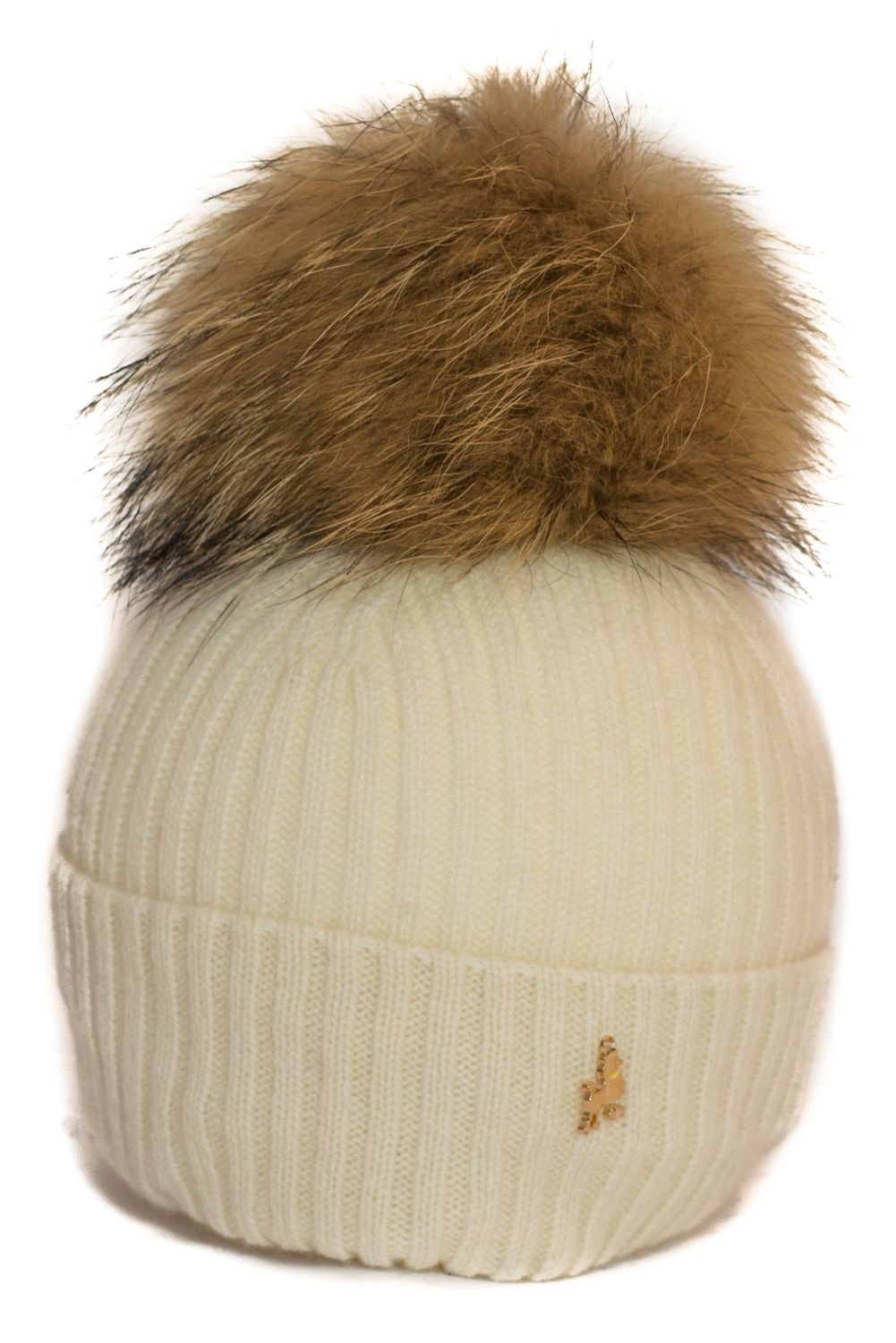 26e7244d 'Maddie' Hat - Cream - Natural Colour Pom