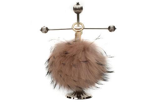 Beige - Luxury Raccoon Pompom Keyring/Bag Charm