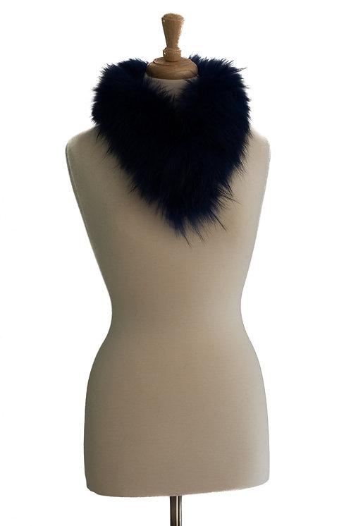 Blue Raccoon Fur Collar