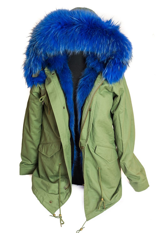 Parka Jacket - Green/Blue