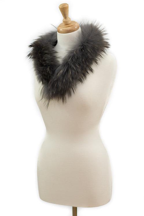 Grey Raccoon Fur Collar