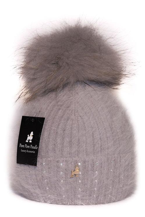 'Jessie' - Grey Pompom Hat