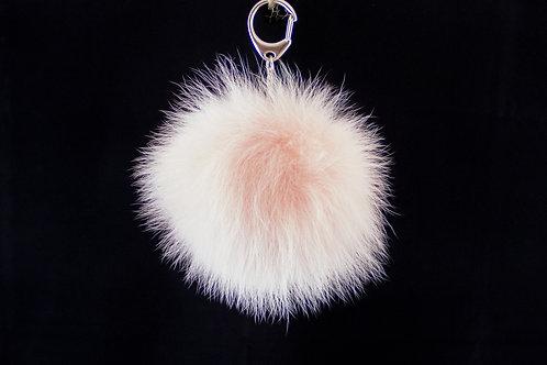 Pink - Simple Pompom Keyring/Bagcharm
