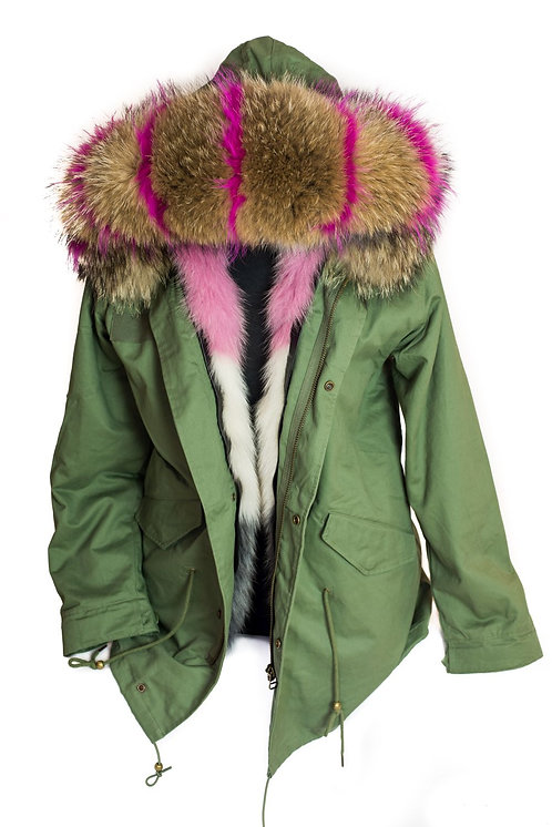 Parka Jacket - Green/Multi