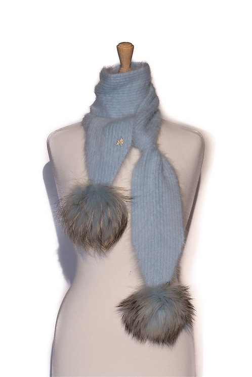 'Jenna' Scarf - Light Blue