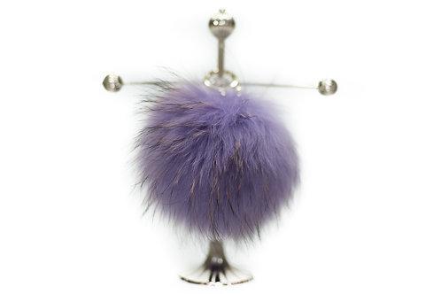 Lilac - Luxury Raccoon Pompom Keyring/Bag Charm