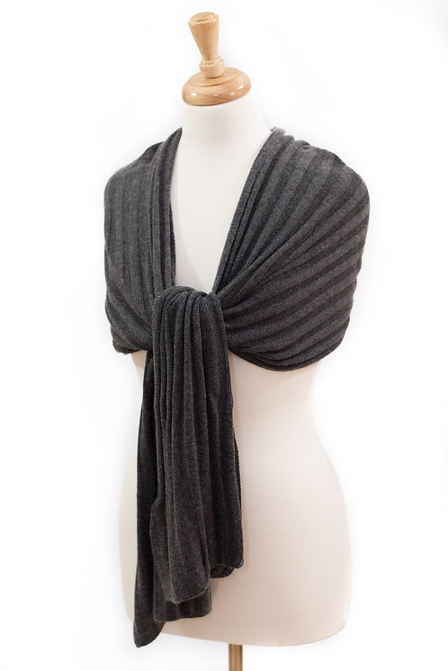 'Maddie/Molly' Scarf - Charcoal