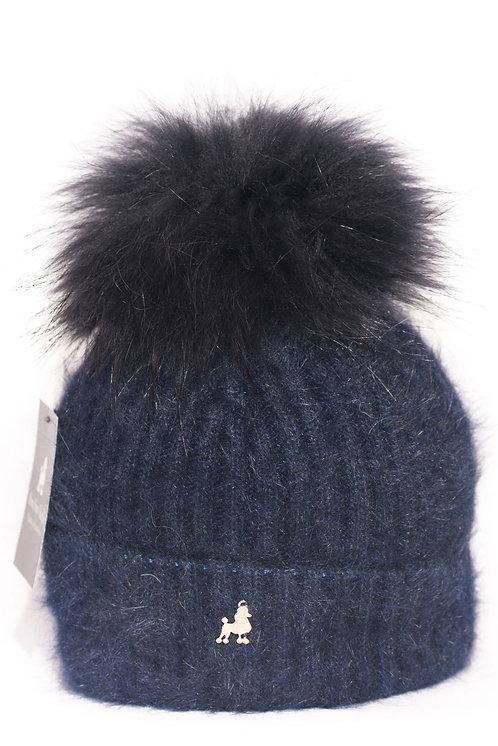 'Jenna' - Navy Pompom Hat