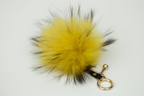 Yellow - Luxury Raccoon Pompom Keyring/Bag charm
