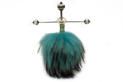 Turqoise - Luxury Raccoon Pompom Keyring/Bag Charm