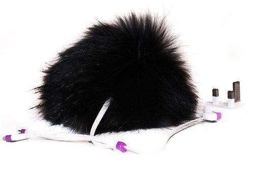 'Power Pom' (USB Charger) - Black/White/Grey