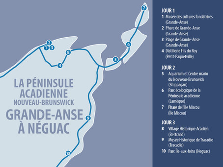 ACADIAN PENINSULANEW BRUNSWICK - GRANDE-ANSE ROCHER TO NÉGUAC