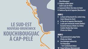 LE SUD-EST NOUVEAU-BRUNSWICK KOUCHIBOUGAC À CAP-PELÉ