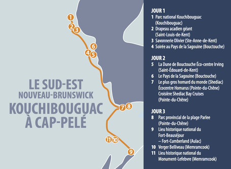 SOUTH EAST NEW BRUNSWICK KOUCHIBOUGAC TO CAP-PELÉ