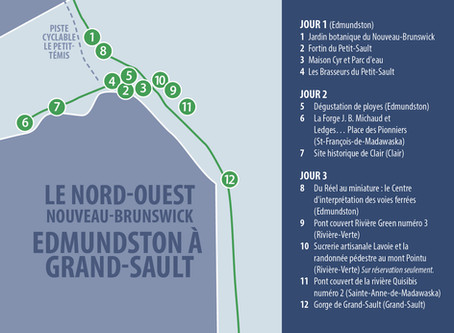 NORTH WEST NEW BRUNSWICK - EDMUNDSTON TO GRAND-SAULT