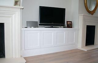 Bespoke, slimline cupboard for TV